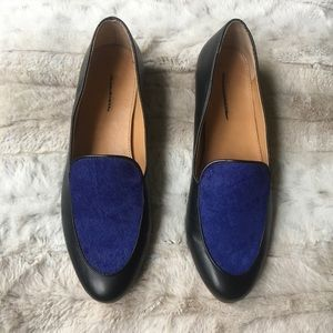 J.Crew Calf Hair Stacked-Heel Loafers
